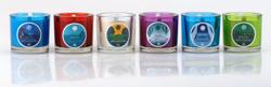 colored glass votives